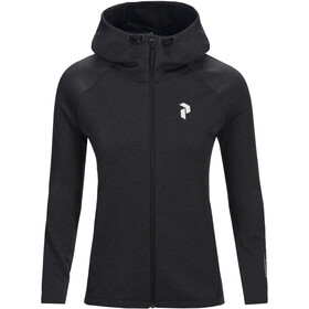 Peak Performance W's Pulse Zip Hood Dark Grey Melange